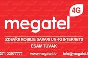 Telekomunikāciju uzņēmums Megatel piedāvā 10% atlaidi saviem pakalpojumiem ar 3+ Ģimenes karti!
