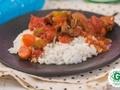 Cūkgaļa tomātu mērcē ar rīsiem
