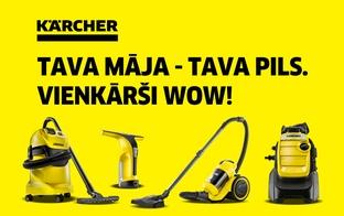 Spēcīgi un efektīvi tīrīšanas risinājumi – uztici tīrīšanas darbus Kärcher ierīcēm!