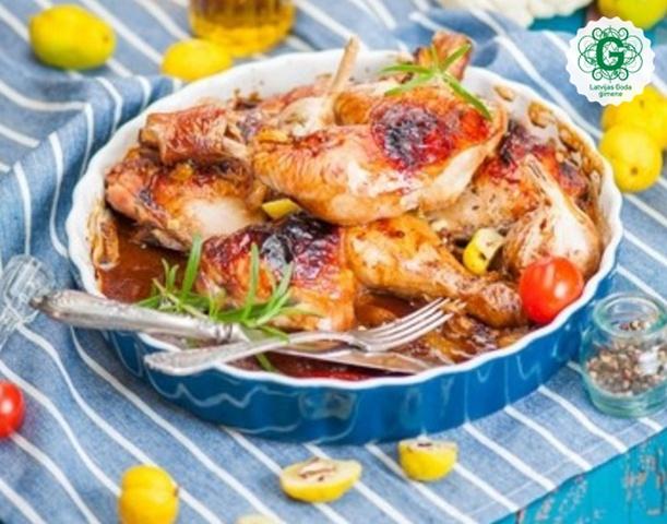 Ideja vakariņām: vistas stilbiņi ar cidonijām un medu