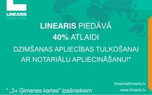 """Tulkošanas birojs SIA """"Linearis"""" piedāvā 40% atlaidi dzimšanas apliecības tulkošanai"""