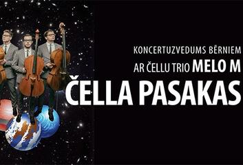 """Cēsu koncertzālē 18.09. """"Čella pasakas"""""""
