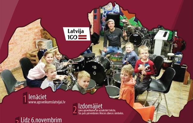 Aicina iedzīvotājus ar unikālu Morzes ābeces aplikāciju iesūtīt apsveikumus Latvijai dzimšanas dienā