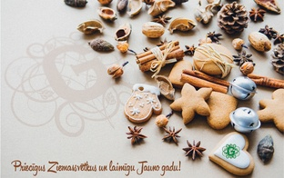 Priecīgus Ziemassvētkus un Laimīgu dzeltenā zemes suņa gadu!
