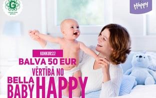 Piedalies konkursā un saņem balvu 50 EUR vērtībā no Bella Baby Happy!