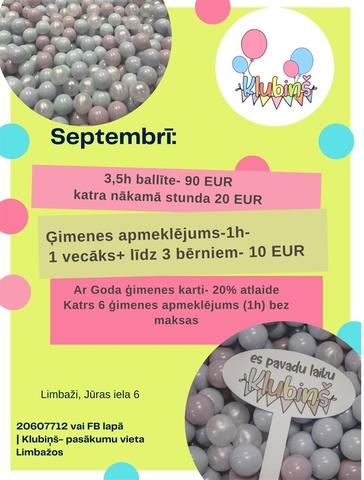 """Septembris un  """"Klubiņš"""" Limbažos aicina uz tikšanos ar draugiem"""