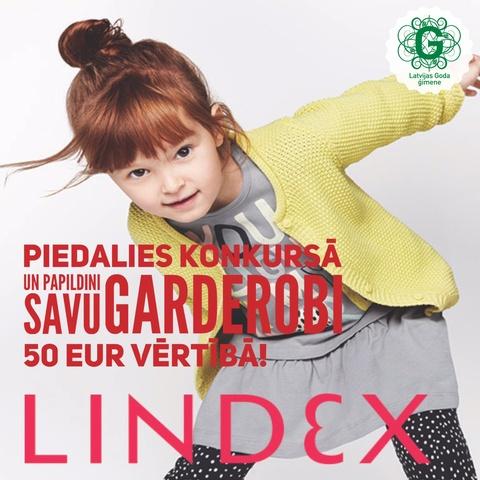 Piedalies KONKURSĀ un laimē iespēju papildināt garderobi no veikala Lindex!