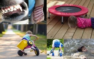 BKUS atgādina: Seši apdraudējumi vasaras sezonā bērniem – ritenis, batuts, ūdenstilpnes, skrituļslidas, grils un mājas mīluļi.