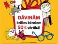 Optio sociālās atbildības programmas ietvaros dāvā bērniem brilles 50 EUR vērtībā!
